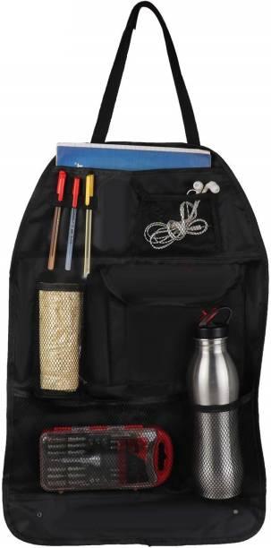 casago Nylon Universal Car Auto Seat Back Multi Pocket Organizer Bag for Mobile, Bottle, Map, Magazines and Umbrella Storage Car Multi Pocket