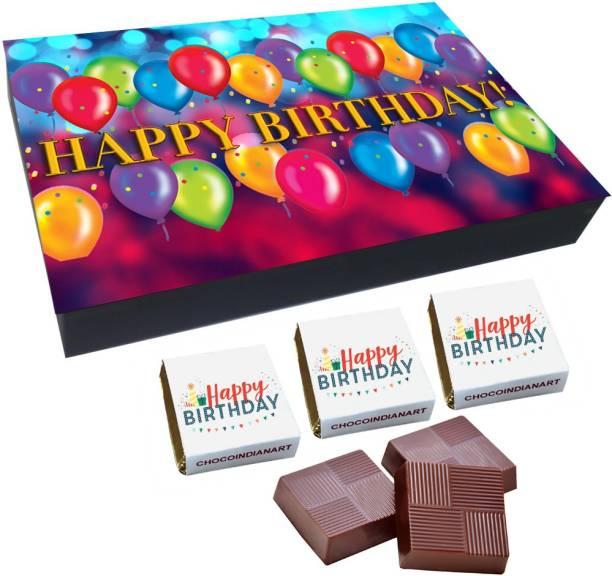 CHOCOINDIANART Happy BirthDay, 12 Chocolate Amazing Gift Box, Truffles