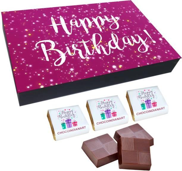 CHOCOINDIANART Special, Happy BirthDay, 12 Chocolate Surprise Gift Box, Truffles
