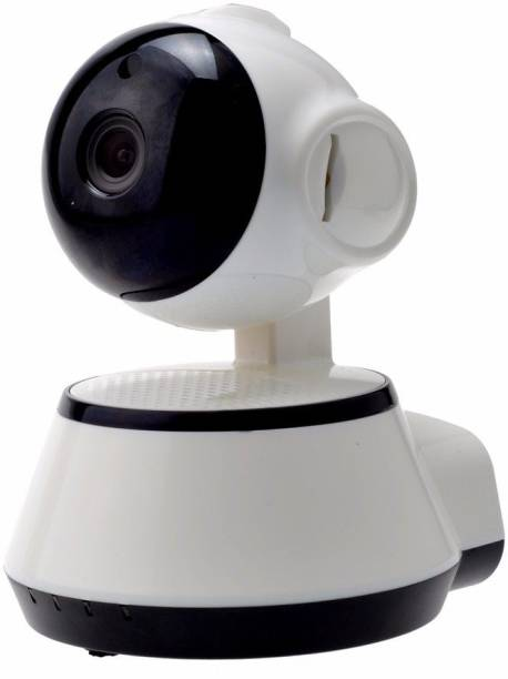 V380 Security IP WiFi Enabled Indoor Security Camera with Night Vision, 720P Resolution, Rotatable Video and Remote Control View Via Smart Phone Security Camera