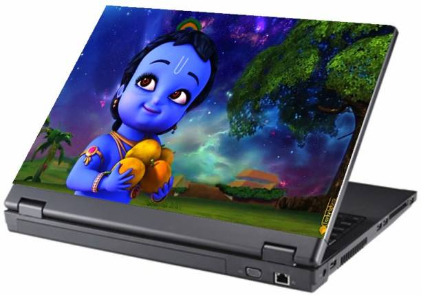 Gallery 83 ® animated little krishna Exclusive High Quality Laptop Decal, laptop skin sticker 15.6 inch (15 x 10) Inch G83_skin_1221new Vinyl Laptop Decal 15.6