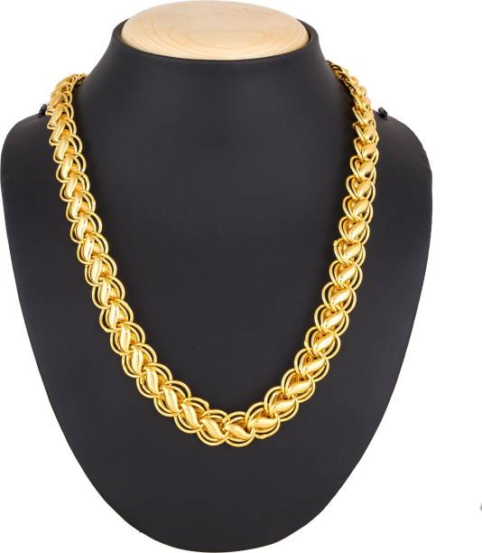 c1ee7b0f673 Luxor Latest Stylish Designer Chain for Mens & Boys Gold-plated Plated Alloy  Chain