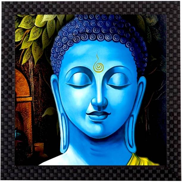 Craft Junction Lord Gautam Buddha Art Print Design Matt Textured UV Ink 12 inch x 12 inch Painting