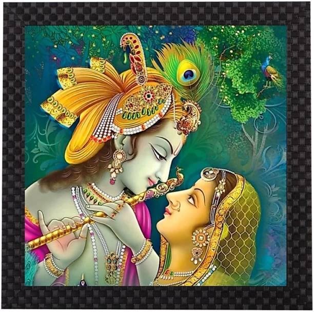 Craft Junction Lord Radha Krishna Art Print Design Matt Textured UV Ink 12 inch x 12 inch Painting