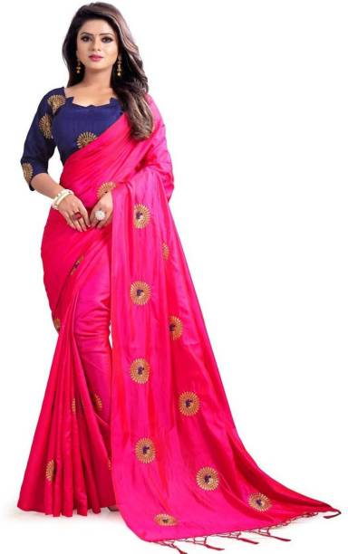 b3e71aac963d20 Fancy Fab Embroidered Daily Wear Poly Silk, Poly Silk, Poly Silk Saree