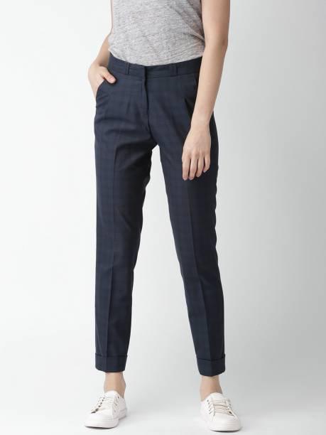 MAST & HARBOUR Regular Fit Women Blue Trousers