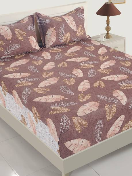 SWAYAM 200 TC Cotton Double Abstract Bedsheet