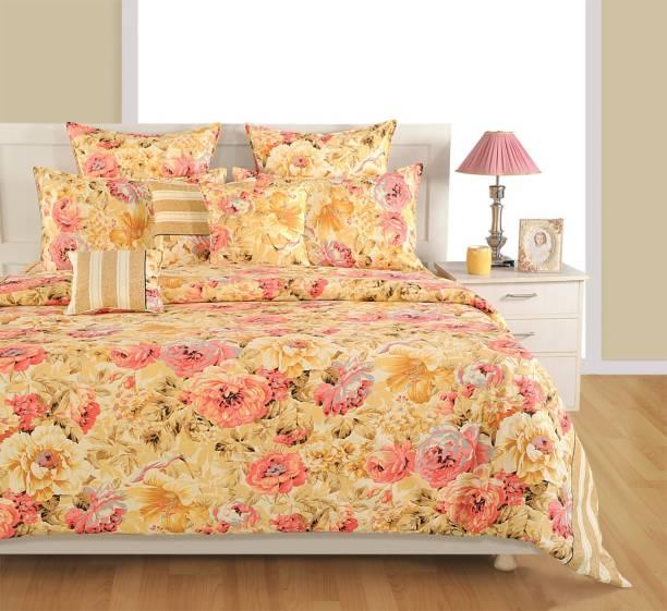 SWAYAM 160 TC Cotton Double King Printed Bedsheet