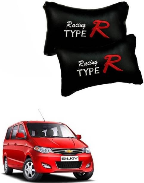 Hard Eight Black Leatherite Car Pillow Cushion for Chevrolet