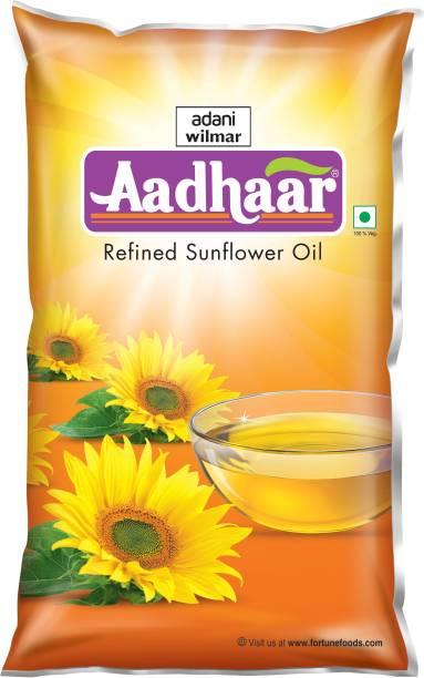 Aadhar Refined Sunflower Oil Pouch