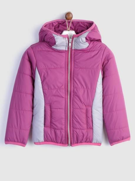 Yk Full Sleeve Color Block Girls Jacket