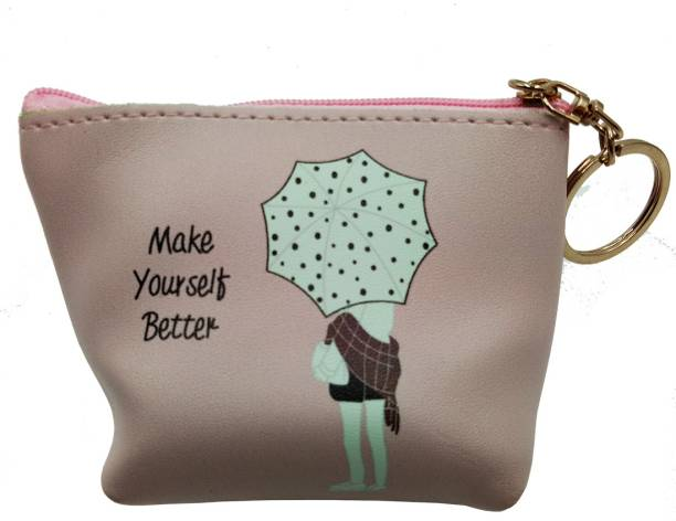 39d915ca82fafe BANDICOOT LONDON-MAKE YOURSELF BETTER PINK COIN PURSE AND POTLI Coin Purse