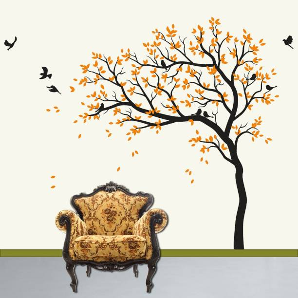 walkart Extra Large WallStickers (96112) autumn feel of trees with flying birds