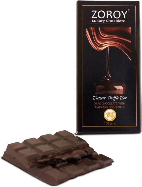 Zoroy Luxury Chocolate Dessert Truffle chocolate Bar- Dark confection with Dark mousse centre Bars