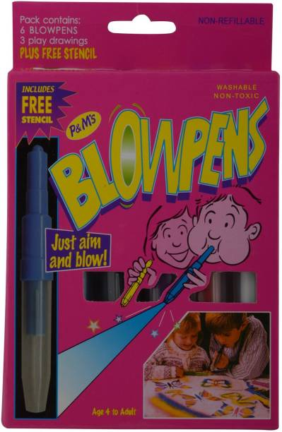 Quinergys Magic Blow Pens Super Nib Sketch Pens  with Washable Ink