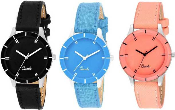 8bc124bd23eea brandsoon attractive COMBO set of-3 watch for woman Analog Watch - For Girls