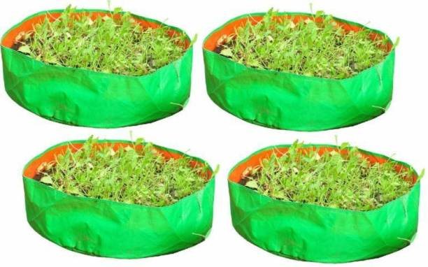 """Coirgarden Terrace Gardening HDPE Grow Bags for Vegetable Plants, Spinach (Keerai, Palak Plant Grow Bags) (18""""x6"""" inches) - [46cms(L) X 15cms(H)] - Pack of 4 Grow Bag"""