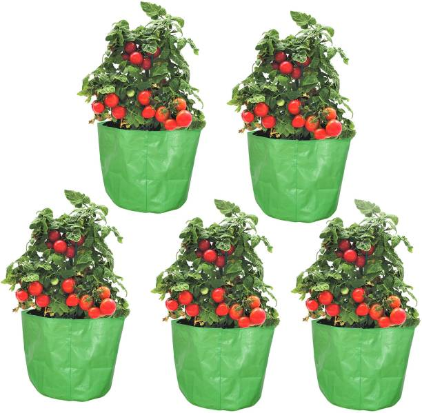 """Coirgarden Terrace Gardening HDPE Grow Bags for Vegetable Plants (12""""x15"""" inches) - [30cms(L) X 38cms(H)] - Pack of 5 Grow Bag"""