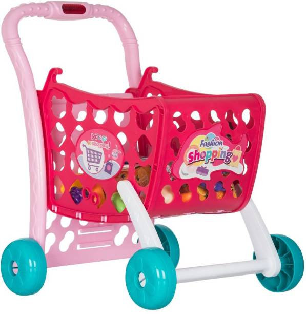 Smartcraft 3 in 1 Kids Shopping Cart Toy , Kids Shopping Cart with Music and Lights