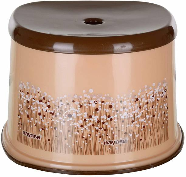 NAYASA Bathroom Stool (Glossy, Brown Funk Stool) Stool
