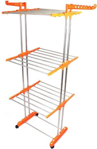 TNC Steel Floor Cloth Dryer Stand B2 ORANGE 01