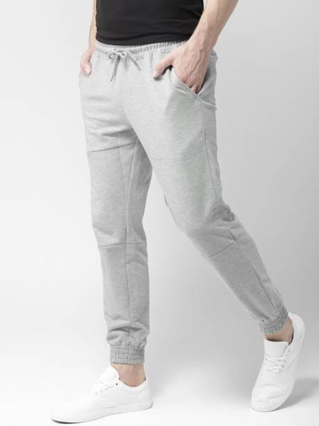 MAST & HARBOUR Solid Men Grey Track Pants