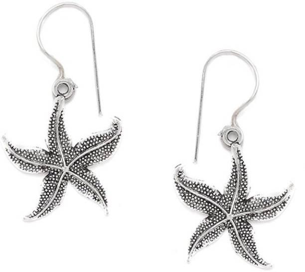 dff2e67a9 ZeroKaata Oxidized Silver star Fish Earrings German Silver Dangle Earring