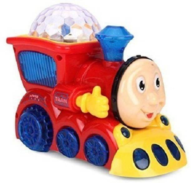 ZZ ZONEX Bump and Go Musical Engine Train with 4D Light and Sound for Toy for Kids