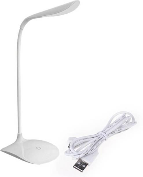 iDOLESHOP Touch Switch Desk Eye Protection College Student Lamp (White) Lantern Emergency Light