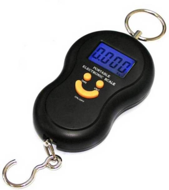 Urweigh 50Kg Portable Hanging Luggage Weight Machine Digital for Weighing Household Items Smiley Pocket Weighing Scale