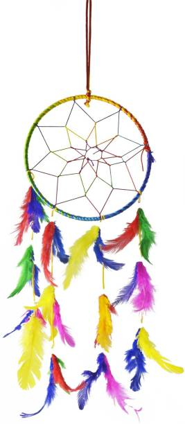 Crafts For You Dream Catcher for Car & Wall Hanging Attract Positive Dreams Decorative Showpiece Cotton Dream Catcher