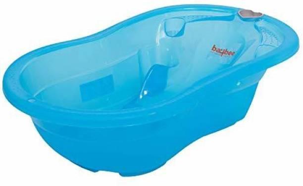 baybee BBT118-4-B Megatub Baby Bathtub with Anti-slip/Baby Bath Tub For Kids/Newborn baby- Largest Space Bathtub for New Born Baby ( Blue ) Free-standing Bathtub