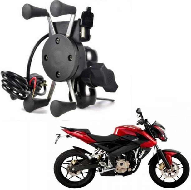 RWT X-Grip Mobile Phone Holder with USB Charger Bike Mobile Holder For Pulsar 200 NS DTS-i Bike Mobile Holder