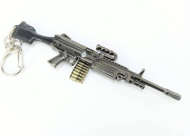 ewave PUBG M249 Gun Real 3D Metal Body M249 Gun 120mm Length Locking Carabiner
