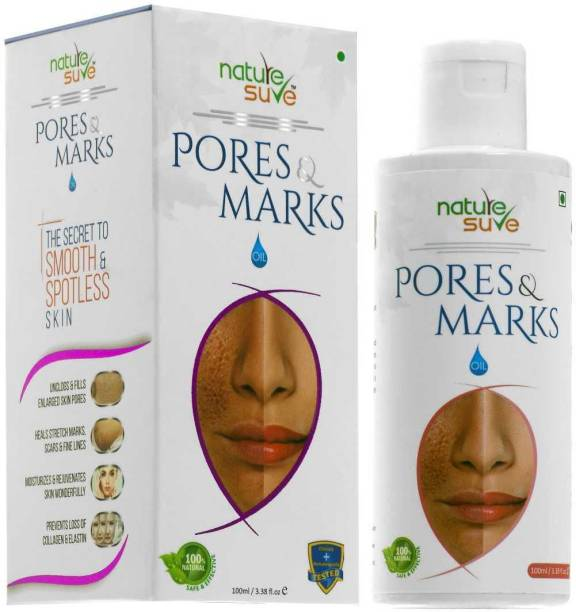 Nature Sure Pores and Marks Oil - 1 Pack (100ml) for enlarged skin pores, stretch marks and fine lines