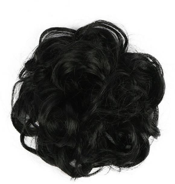WONDER CHOICE Women Curly Hair Bride Bun Maker Juda Rubber Free Size Bun