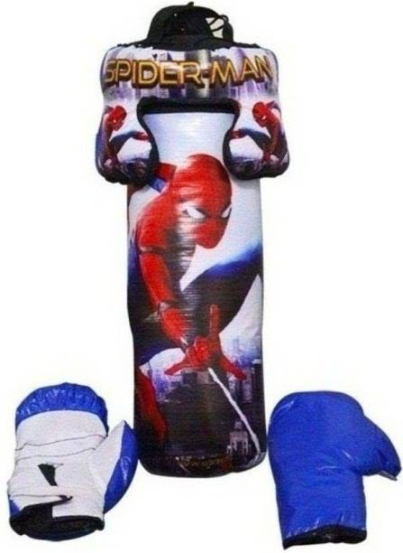 SPORTSHOLIC Spider Kids Toy Boxing Kit With 2 Gloves and 1 Head guard For Kids Boys Girls 3 To 8 Years Boxing Kit