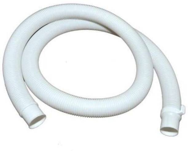QTM 1 mtr Corrugated Plastic Waste Outlet Drain Hose Pipe for All Top Load Fully / Semi Automatic Washing Machine Washing Machine Outlet Hose