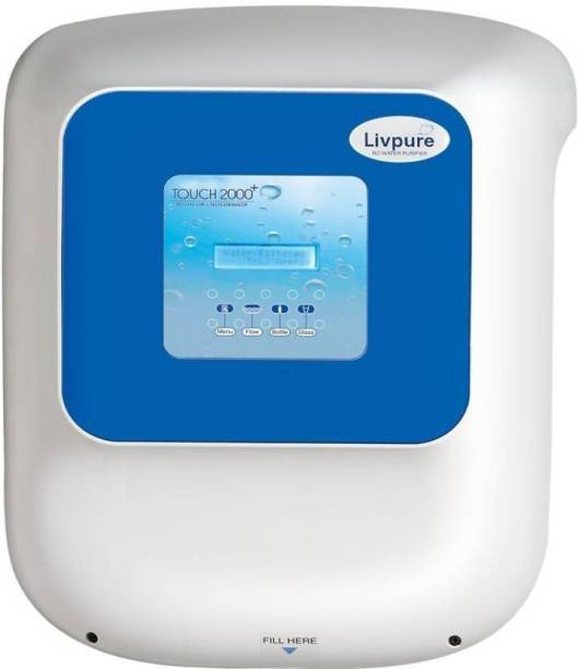 LIVPURE TOUCH 2000 PLUS 8 L RO + UV + UF + TDS Water Purifier