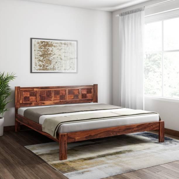 Induscraft Sheesham Wood Solid Wood King Bed