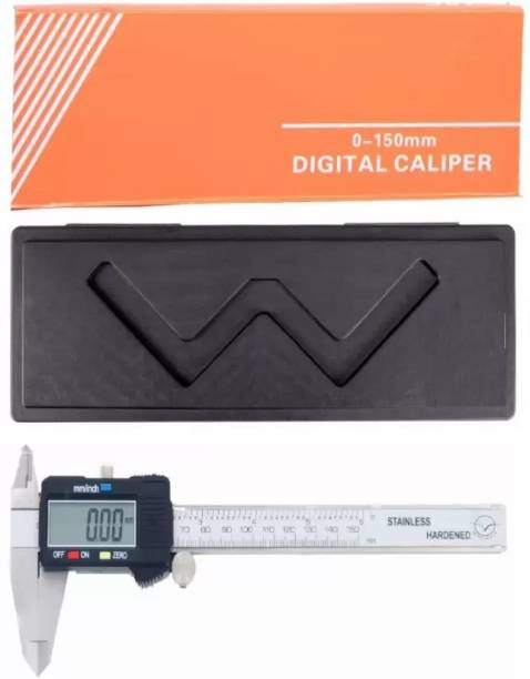Ace Instruments Metric/Imperial Reading Electronic Aero Space Digital Vernier Caliper with Storage Box Case 0~150 mm/0~6 inch Digital Caliper