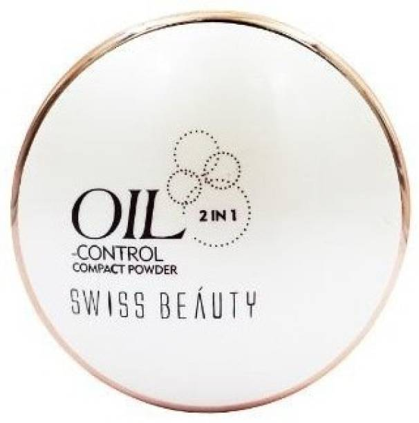 SWISS BEAUTY Oil Control 2 in 1 Compact Powder Compact