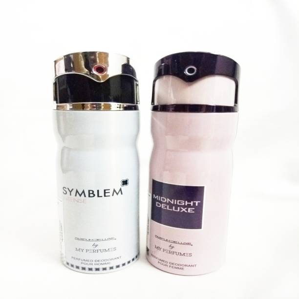 PARFUMDELUXE SYMBLEM INTENSE AND MIGNIGHT DELUXE Deodorant Spray  -  For Men & Women