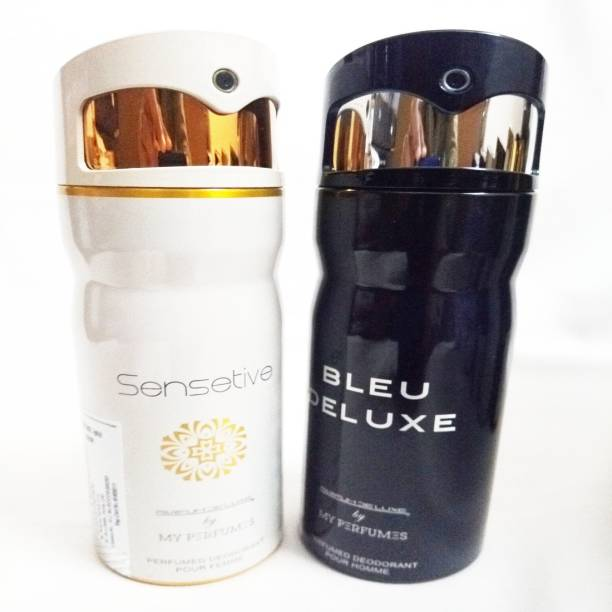 PARFUMDELUXE SENSETIVE AND BLEU DELUXE Deodorant Spray  -  For Men & Women