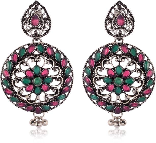 78d381030 Jewelstone Oxidized Silver Dangle & Drop Earrings for Girls & Women Brass  Drop Earring
