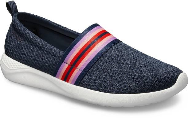CROCS LiteRide Mesh Slip On Women Navy Shoe Slip On Sneakers For Women