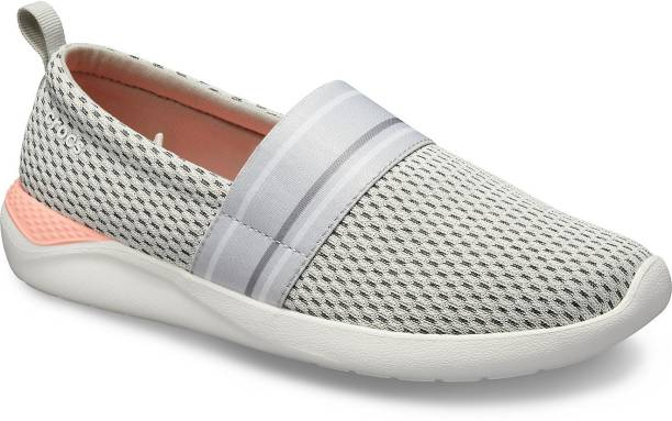 CROCS LiteRide Mesh Slip On Women Grey Shoe Slip On Sneakers For Women