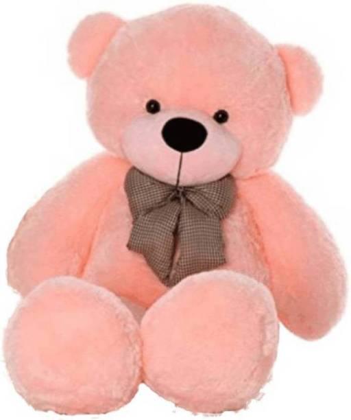 FamilyStore 4 Feet Stuffed Spongy Hugable Cute Pink Teddy Bear - 122 cm (Pink) - 122 cm (Pink)  - 122 cm