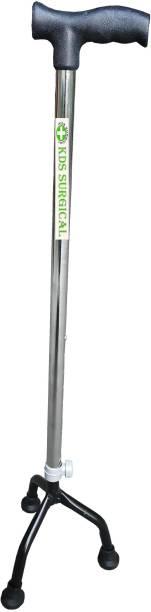 KDS SURGICAL Three Leg Black Walking Stick