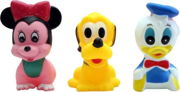 ODDEVEN Soft Bath Toy Chu Chu Toys - Set Of 3 Multi-Color Bath Toy